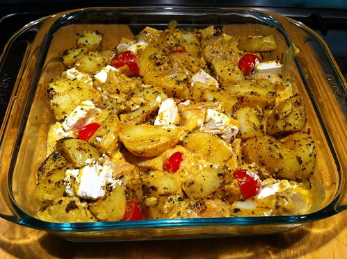 About to Bake - Spicy Chicken & Bombay Potatoes