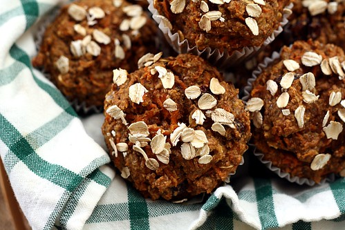 carrot raisin bran muffin