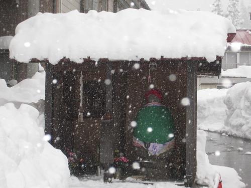 Buddha under snow