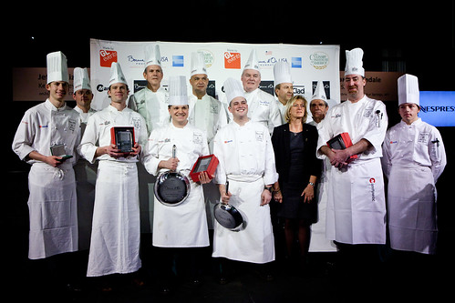 The winners of the Bocuse d'Or Chefs & Commis competition with the Board of Directors of Bocuse d'Or USA