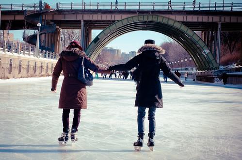 在里多运河上滑冰-初学者