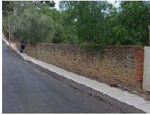 Wall at 1 Duffield Street