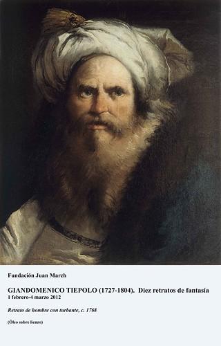 Retrato de hombre con turbante c. 1768