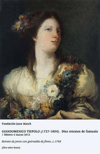 Retrato de joven con guirnalda de flores, c.1768