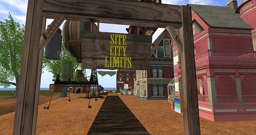 SITE CITY LIMITS sign