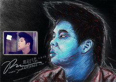 Johan Wong Soft Pastel Portrait Drawing by Joned Rahadian