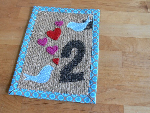 Jenny: Valentine Day Burlap Art