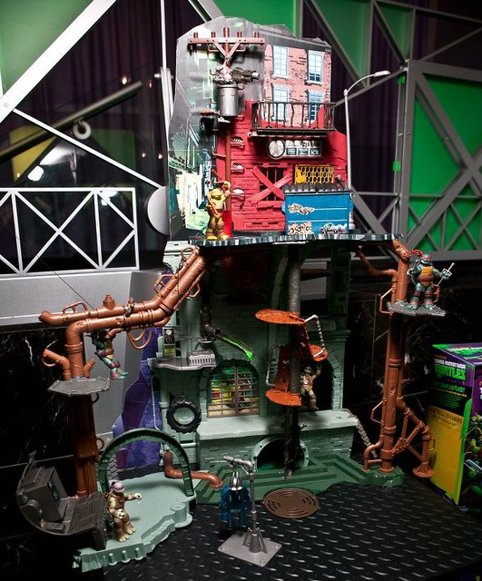 tmnt secret sewer lair playset instructions