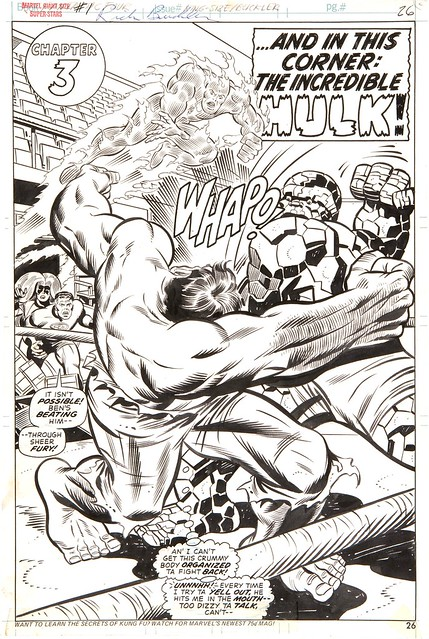 Rich Buckler original art splash for Giant-Size Superstars 1