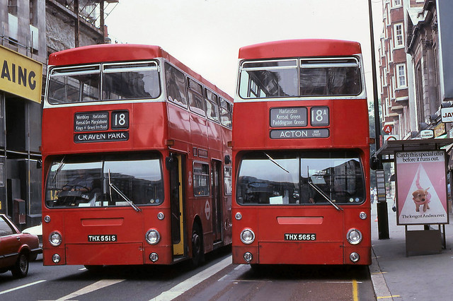 London Transport routes 18 & 18A at Baker Street