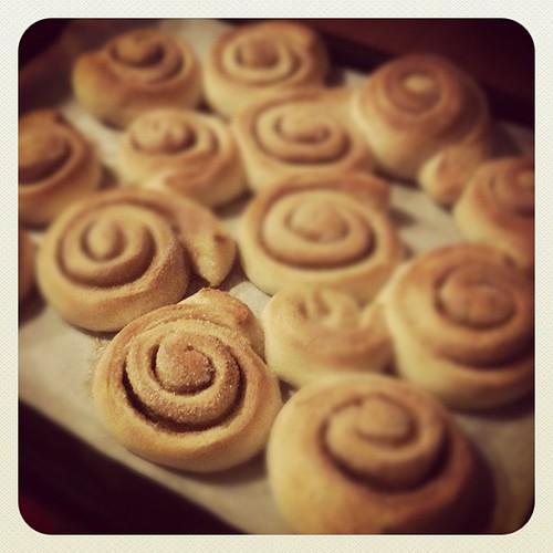 Cinnamon rolls per la colazione di domani :) notte mondo