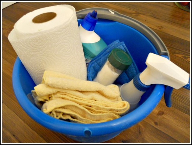 my bathroom cleaning bucket  andrea dekker,