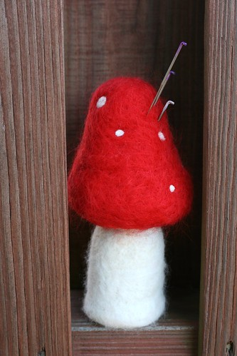 Needle Felt Red Mushrrom