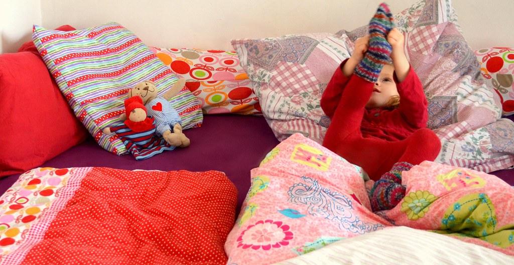 FamilienbettUnser ort der Entspannung. Abends nach einem anstrengenden Tag ins Bett sinken ist eine Wohltat.