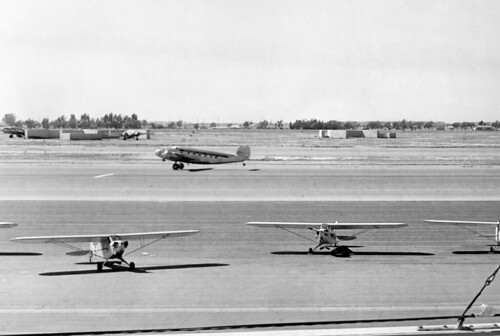 Orange County Airport runway, circa 1950s