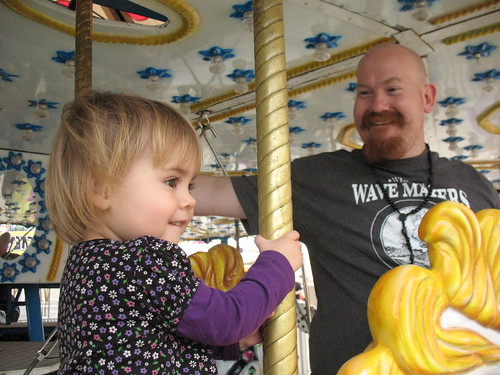 Carousel with daddy