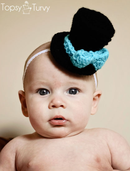 Crochet Mini Top Hat Pattern Boys And Girls Ashlee Marie