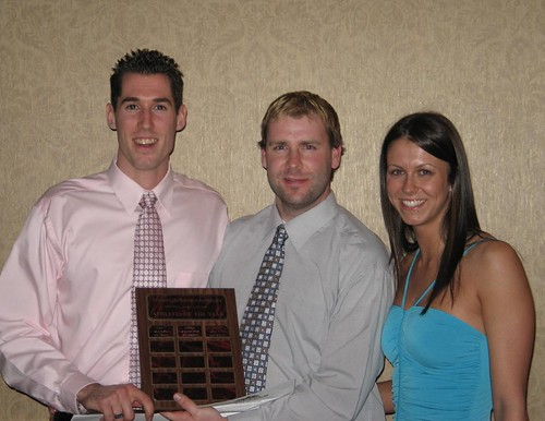 Athletes of the Year - presented by Jon Shephard - Robin Schoebel and Robyn Devlin