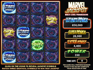 free Incredible Hulk 50 Lines progressive jackpot