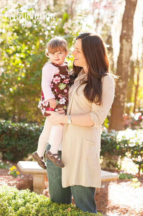 baby girl with her mama in tallahassee photography session