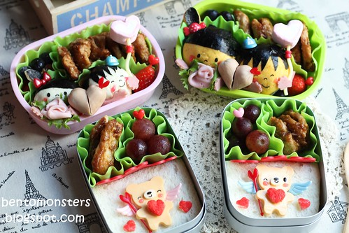 Bentomonsters Valentine's Day Bento