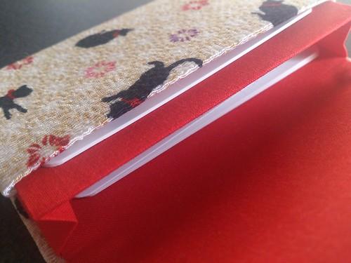 京都くろちく・ゆめといろ「カードケース」猫ベージュ(中)