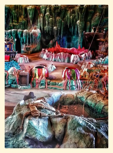 Image of the set from the Eighth Voyage of Sinbad's Stunt Show at Universal Studios