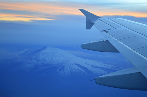 Flying over Mt. Etna