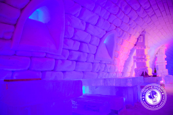 That Time We Slept In a Hotel Made of Snow – Our Experience at the Snow Village, Finland- Snow Village Finland Ice Restaurant Tables