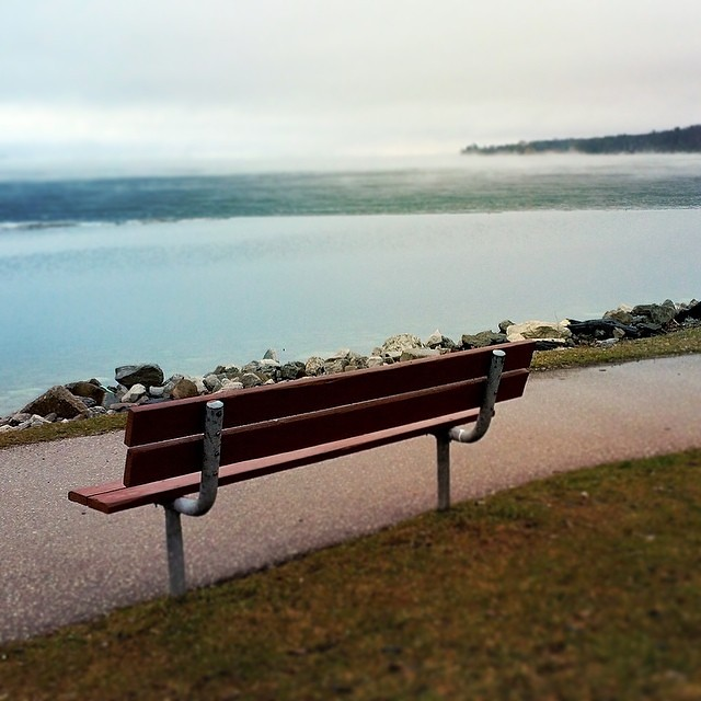 It was a beautiful morning to sit and watch the fog roll in... Or take pictures of other people doing so.