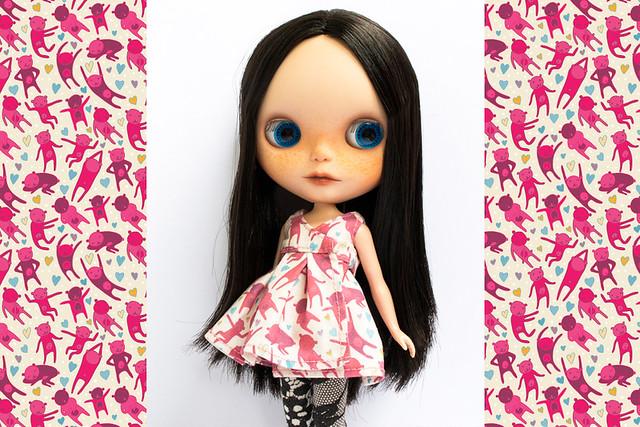 Pink Disco Bears Blythe Dress