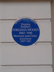 Photo of Virginia Woolf blue plaque