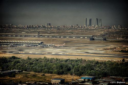 Madrid y Barajas desde Paracuellos