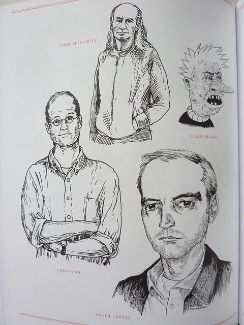 500 Portraits by Tony Millionaire - detail (cartoonists)