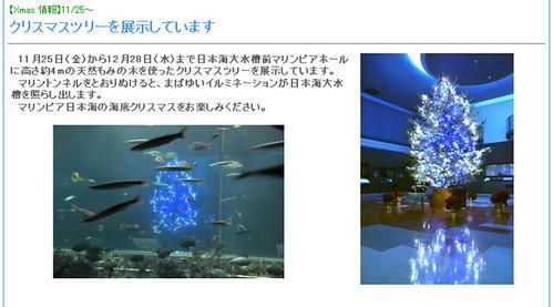 マリンピア日本海クリスマスツリー2011