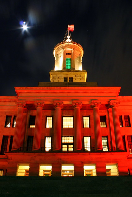 2011 Tennessee State Capitol Christmas at Night (side view)