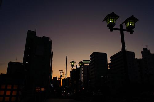Mon-naka sunset