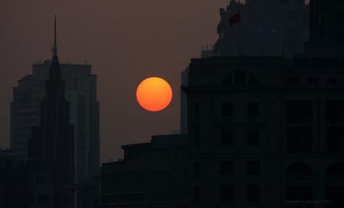 china sunset canon shanghai 中国 上海 pudong 日落 佳能 huangpuriver 2011 黄浦江 浦东 riversidepromenade riversideavenue 滨江大道 450d efs55250f456is