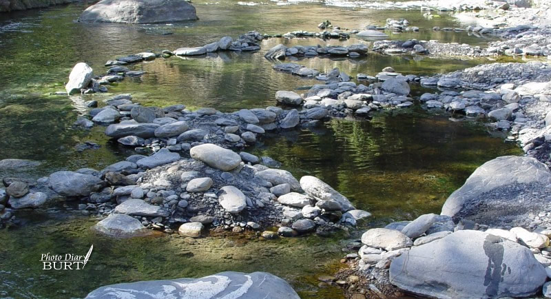 混搭溪水的溫泉池