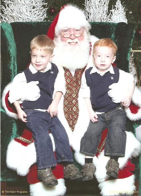 Luke & Nolan_Santa 2011