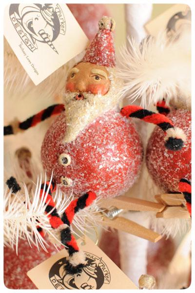 Santa-Clip-Ornaments