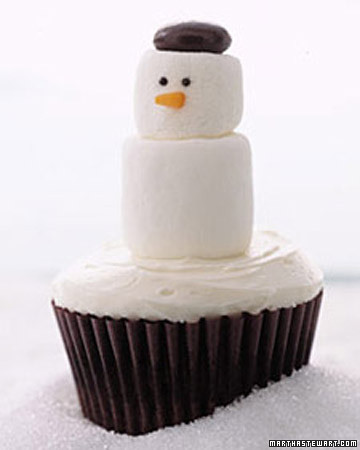 6464624313 3f1923653f Winter Snowman Cupcakes for Christmas