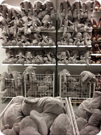 Elephants at the Ottawa Ikea