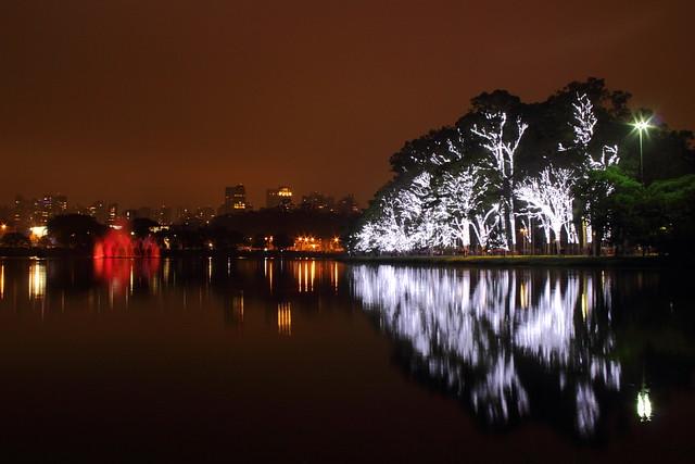 Natal iluminado no Parque do Ibirapuera