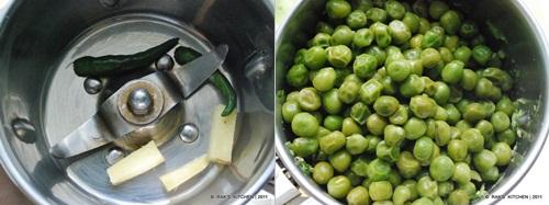 step 3 Peas paratha recipe