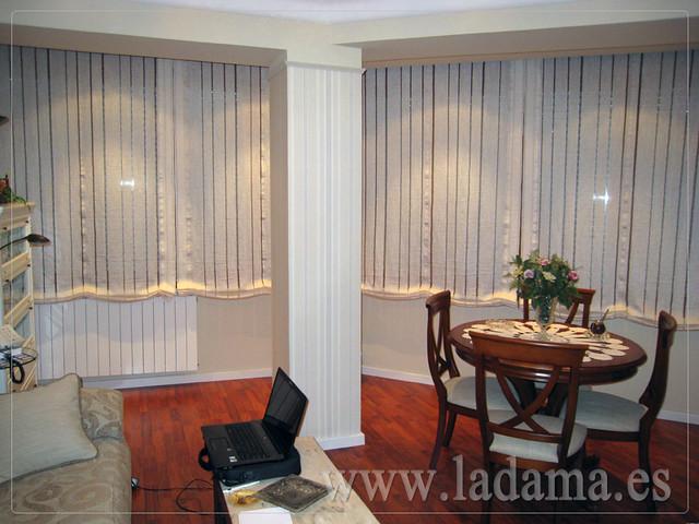 Decoraci n para salones cl sicos cortinas con dobles - Cortinas o estores para salon ...