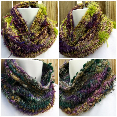 Hand Spun Art Cowls knit with my Hand Spun FunctionArt Art Yarn