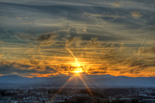 sunset sky sun mountains clouds dream roanoke valley terry jeanie hdr aldhizer terryaldhizercom