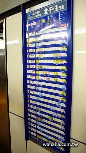 東京地鐵轉乘