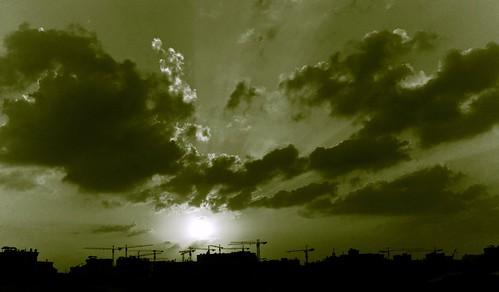 sunset bw white black photos